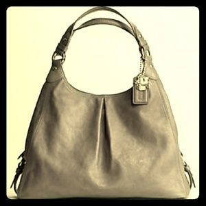Coach Maggie Grey Leather hobo bag
